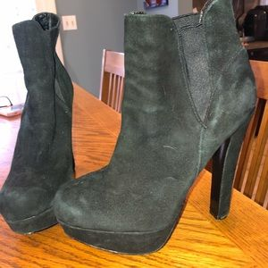 Bakers suede and leather high heeled booties
